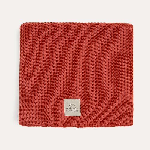 Rust Nanami Knitted Blanket