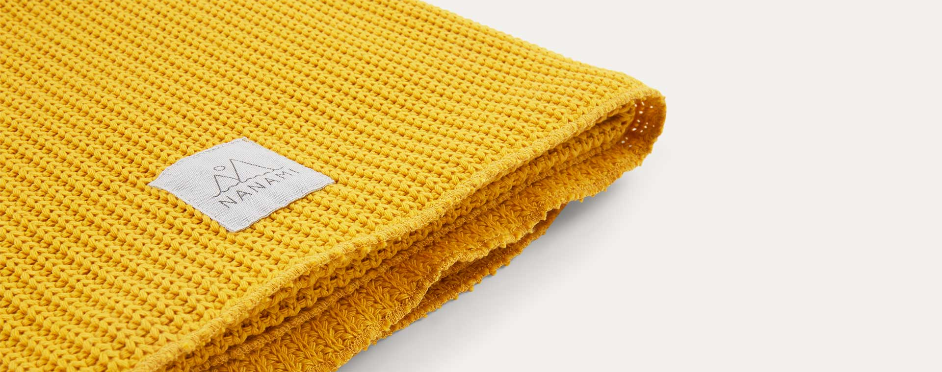 Yellow Nanami Knitted Blanket