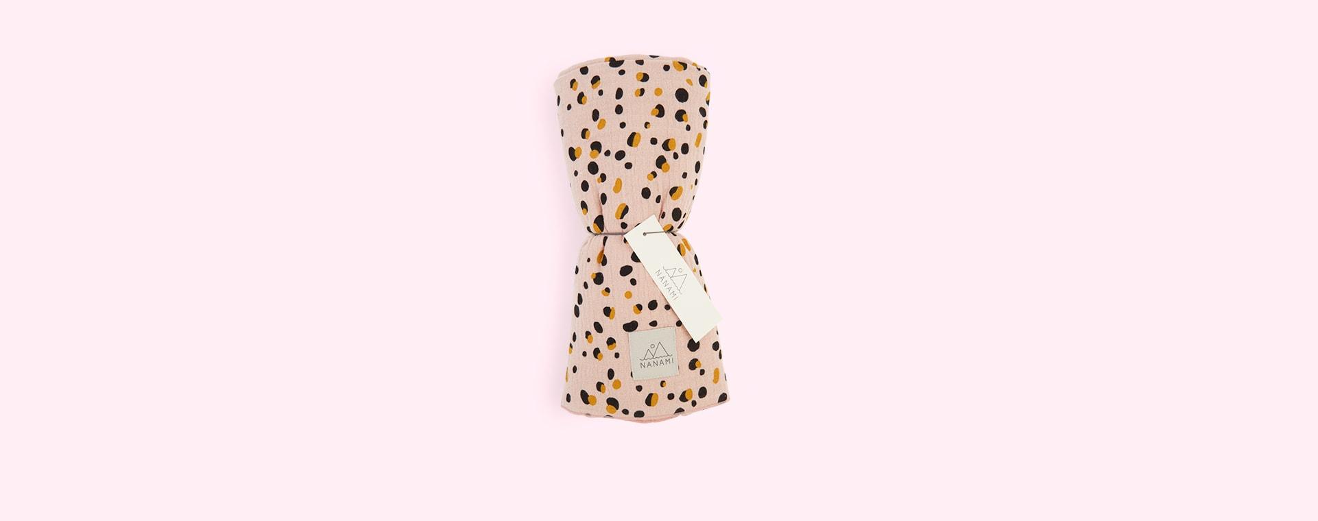 Pink Nanami Pebble Print Swaddle Blanket