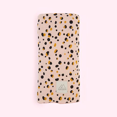 Pink Nanami Pebble Print Swaddle Blanket