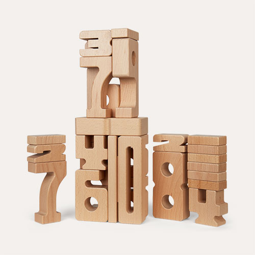 Neutral Sumblox Sumblox Math Wooden Building Blocks
