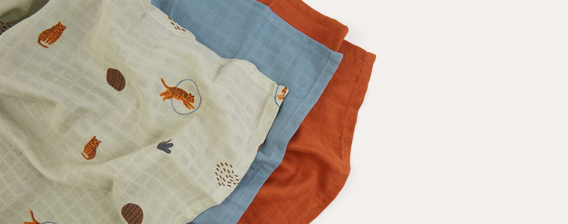 Tiger OYOY Muslin Square 3 Pack