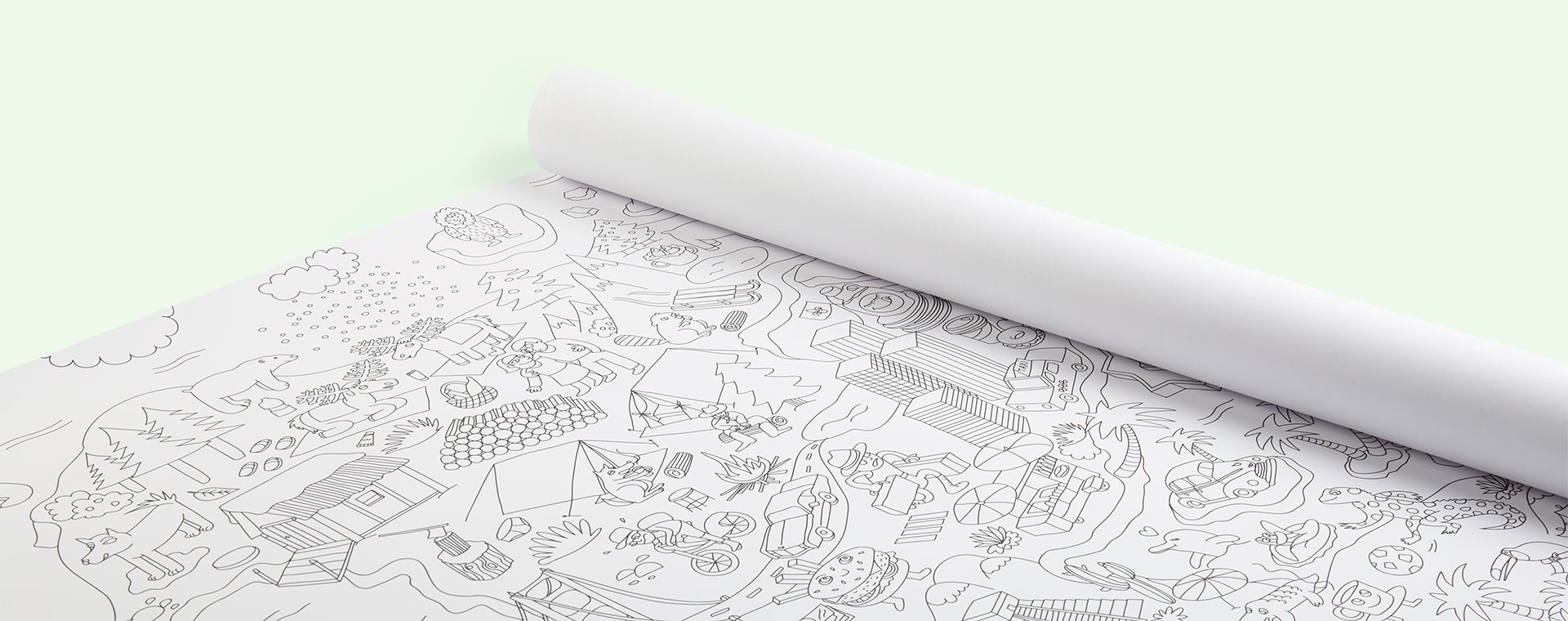 White OMY DESIGN & PLAY Atlas XXL Poster