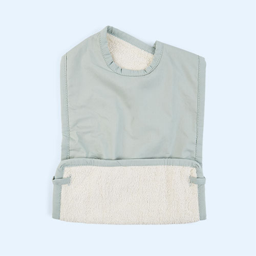 Foggy Blue Fabelab Coated Bib