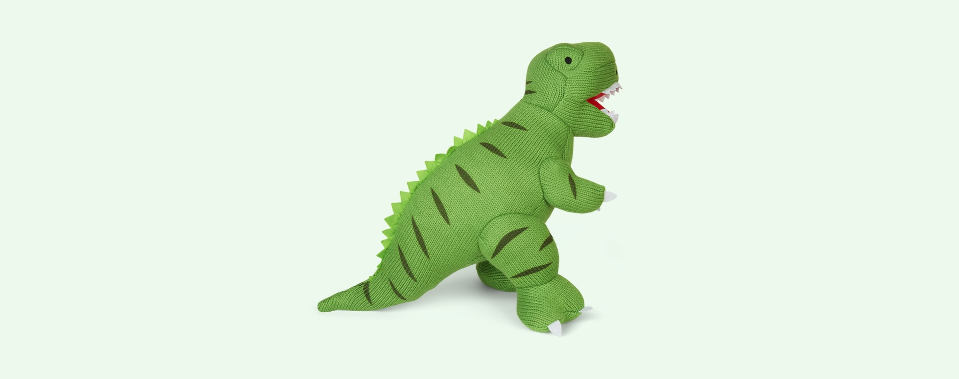 Green Best Years Large Knitted T Rex Dinosaur