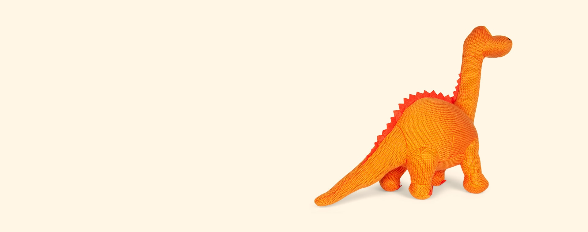 Orange Best Years Large Knitted Diplodocus Dinosaur