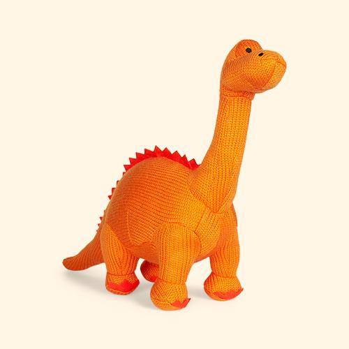 Orange Best Years Large Knitted Diplodocus Dinosaur