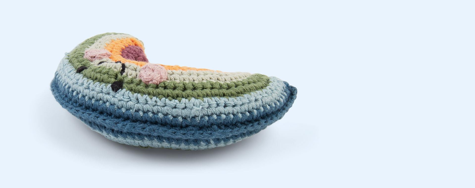 Multi Pebble Crochet Friendly Rainbow Baby Rattle
