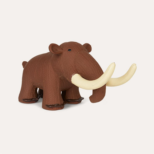 Brown Best Years Mammoth Natural Rubber Toy