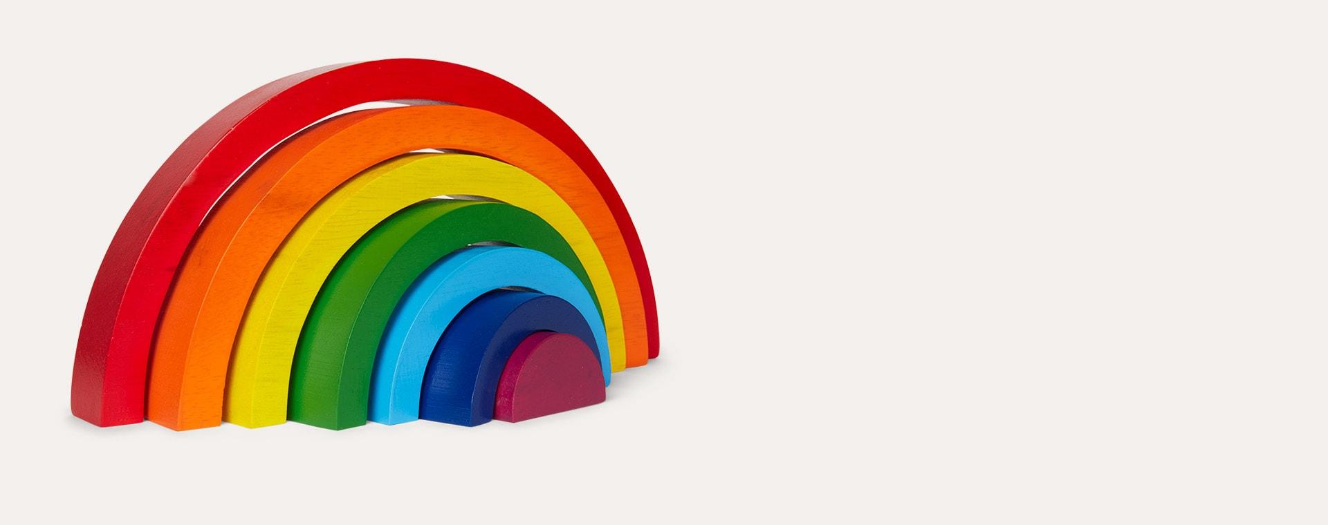 Multi Best Years Bright Wooden Rainbow
