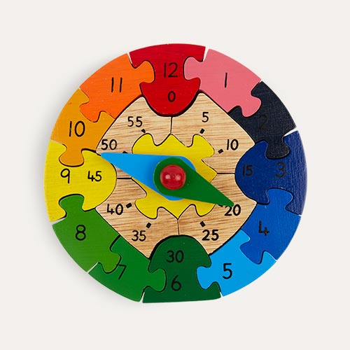 Multi Best Years Wooden Teaching Clock Puzzle