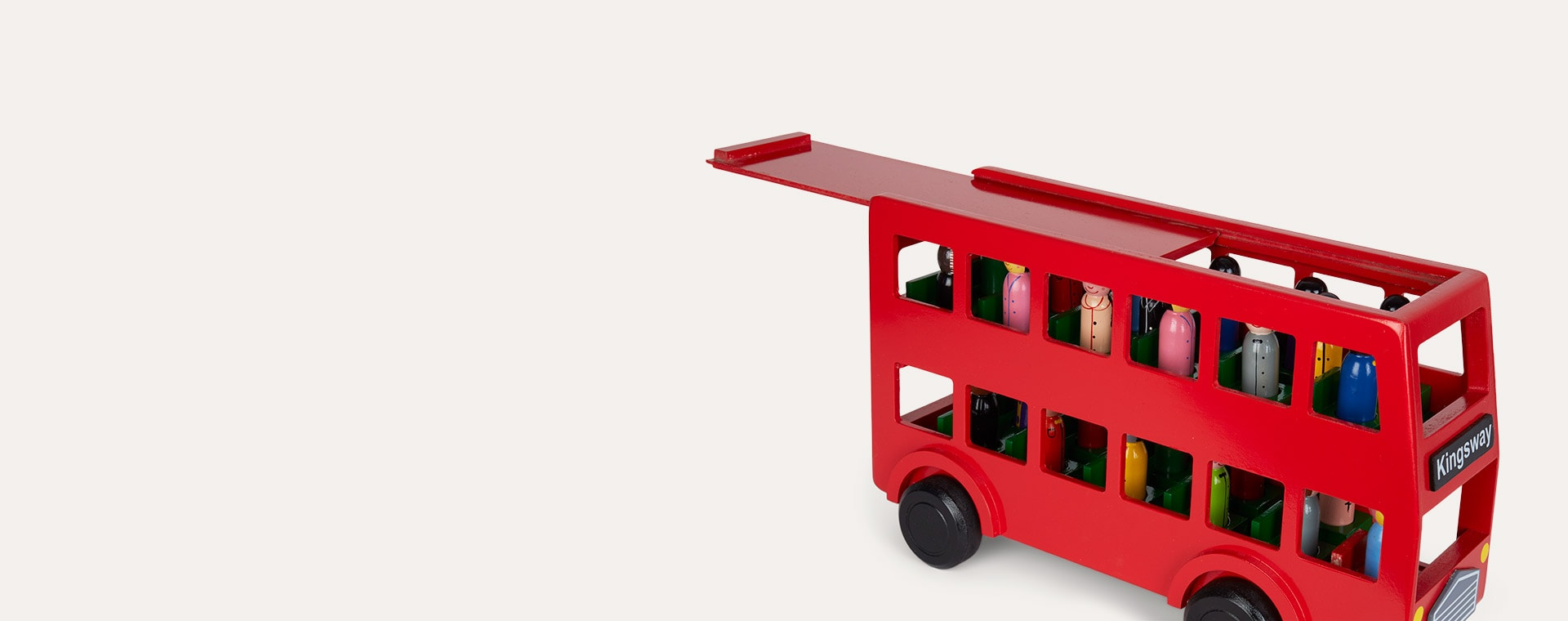 Red Best Years Wooden Double Decker Bus