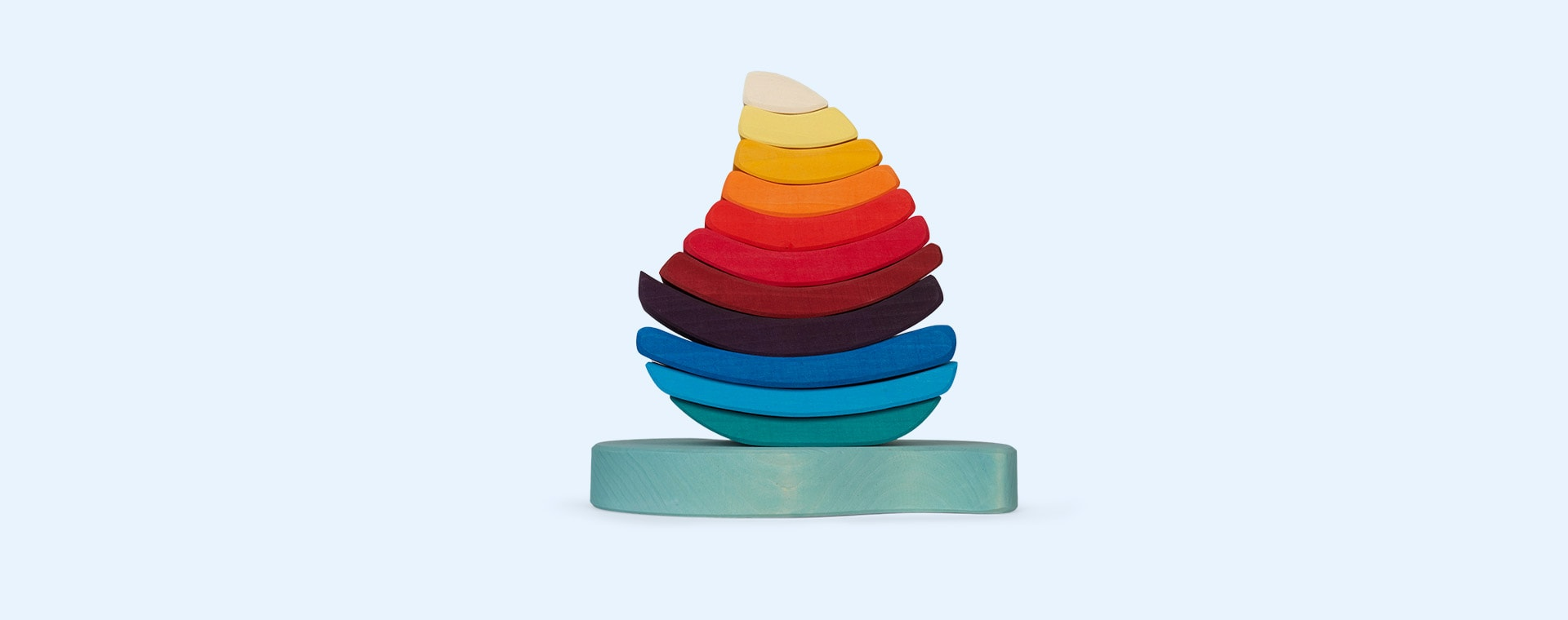 Rainbow Grimm's Boat Stacking Tower