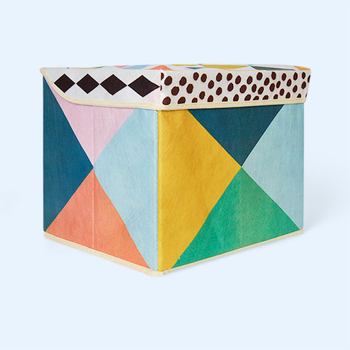 Multi Djeco Storage Box With Geometric Pattern