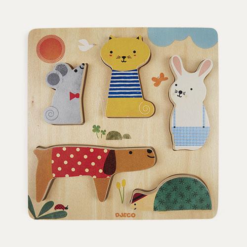Multi Djeco Woody Pets Puzzle