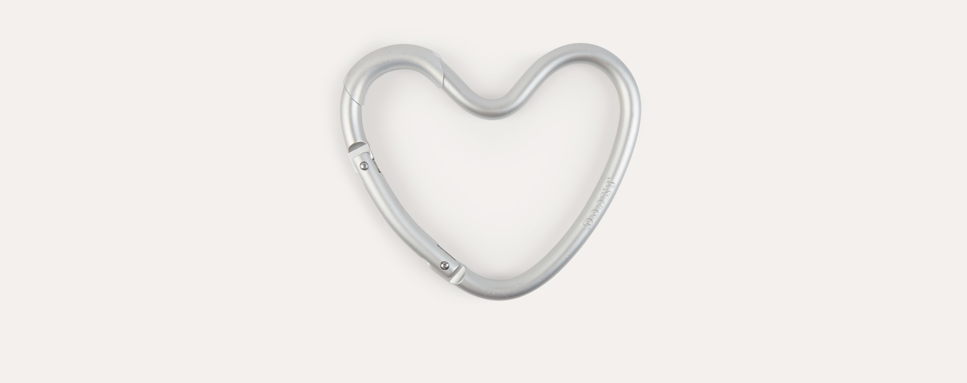 Silver Dooky Heart Buggy Clip