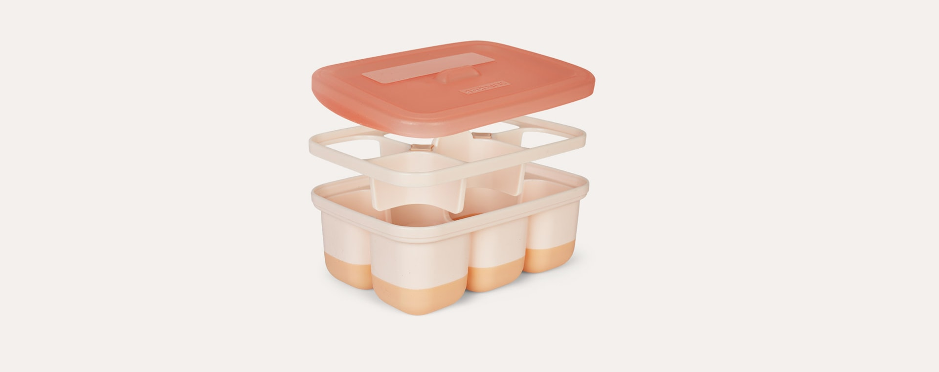 Soft Coral Skip Hop Easy-Fill Freezer Trays