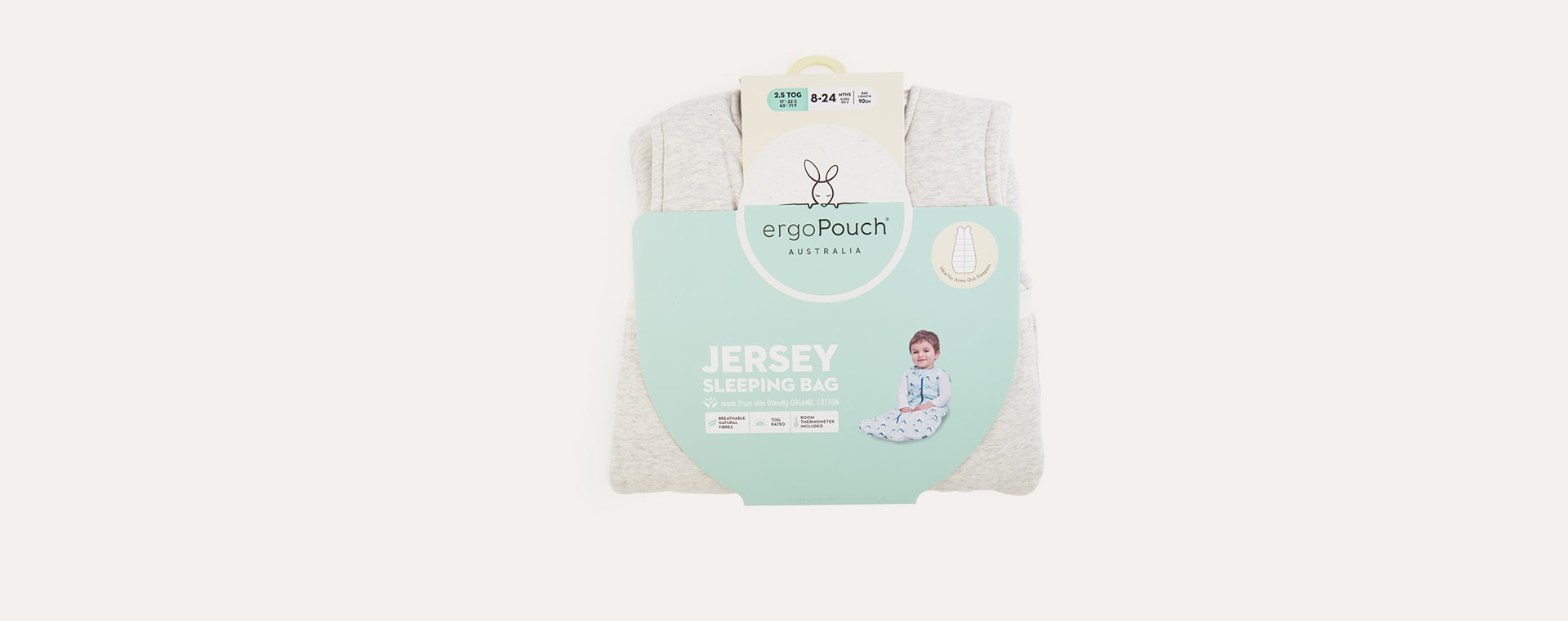 Grey Marle Ergopouch Jersey Sleeping Bag