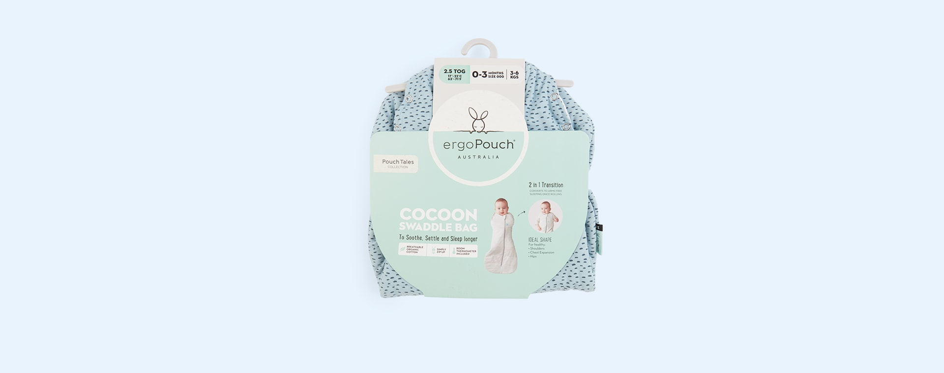 Pebble Ergopouch ergoCocoon Swaddle Bag 2.5 TOG