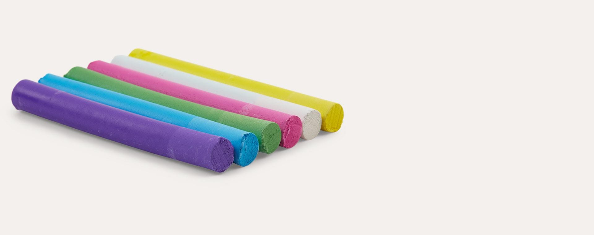 Slim Multicoloured kitpas Dustless Chalk 6 Pack