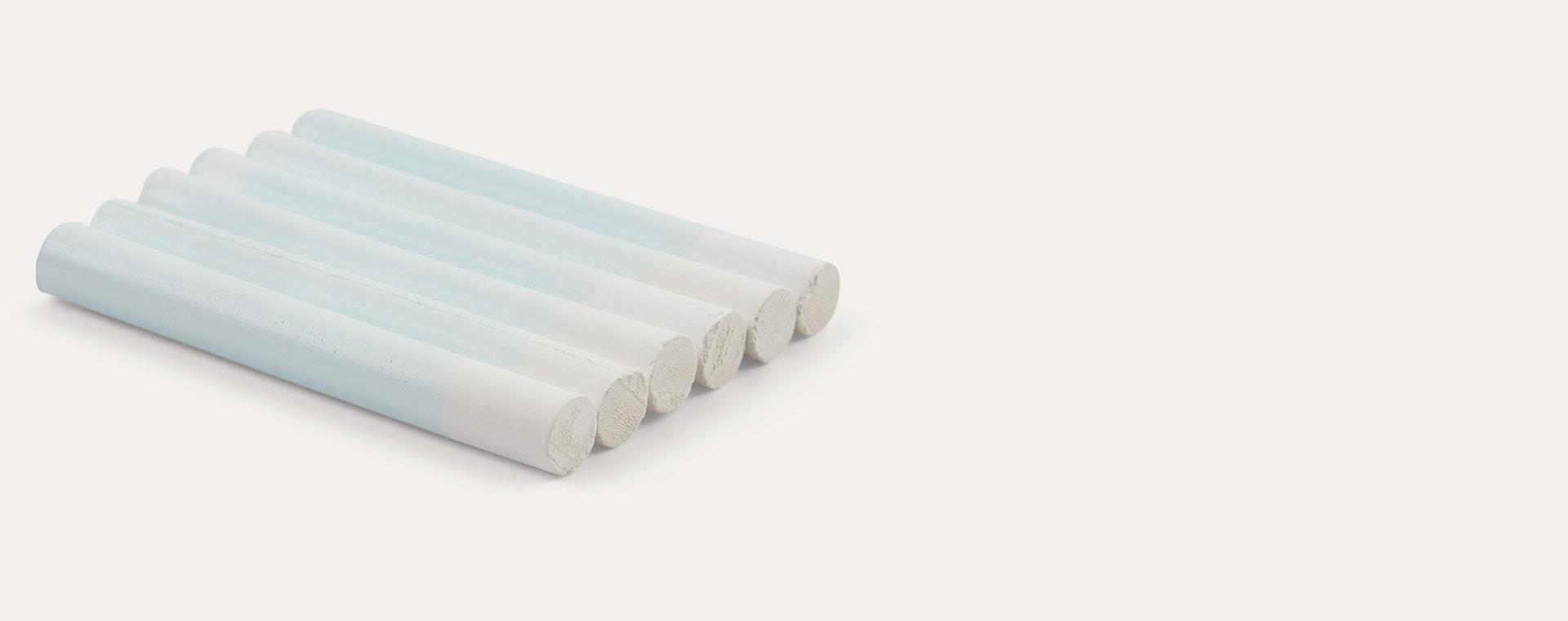 Slim White kitpas Dustless Chalk 6 Pack