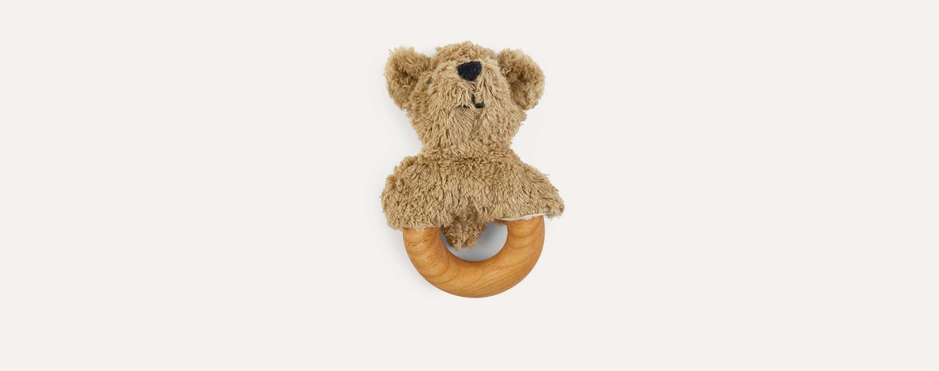 Beige Senger Bear Teething Ring