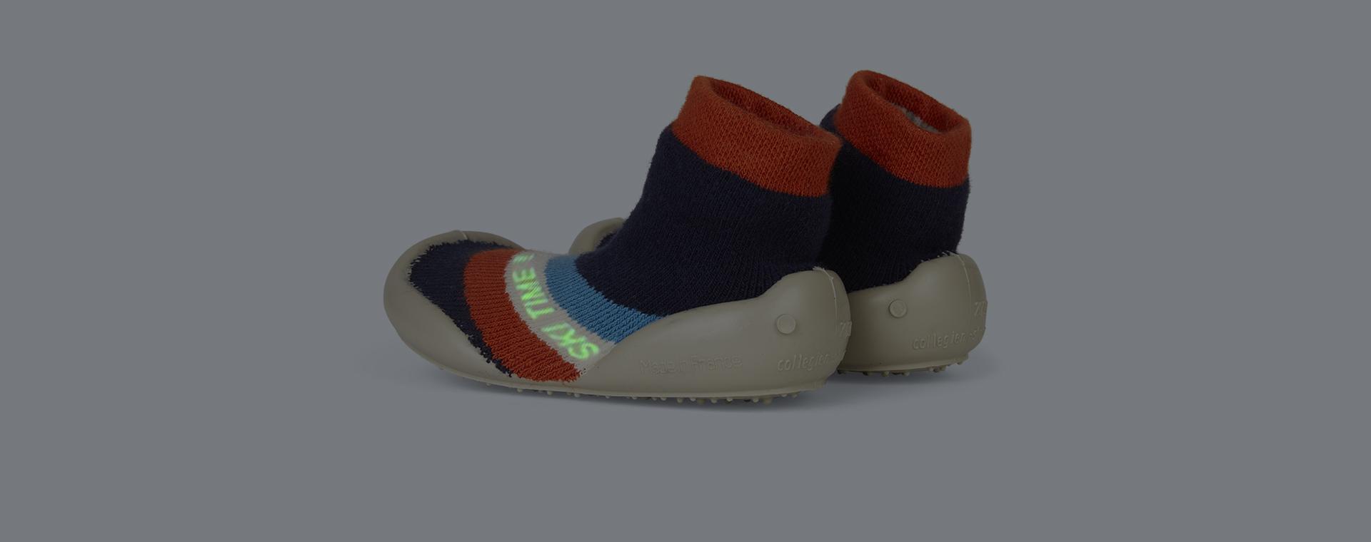 Navy Collegien Chamonix Phospho Slipper Socks
