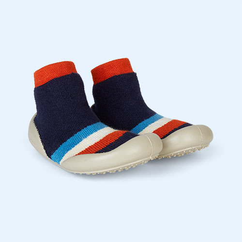 Navy Collegien Chamonix Phospho Slipper Socks