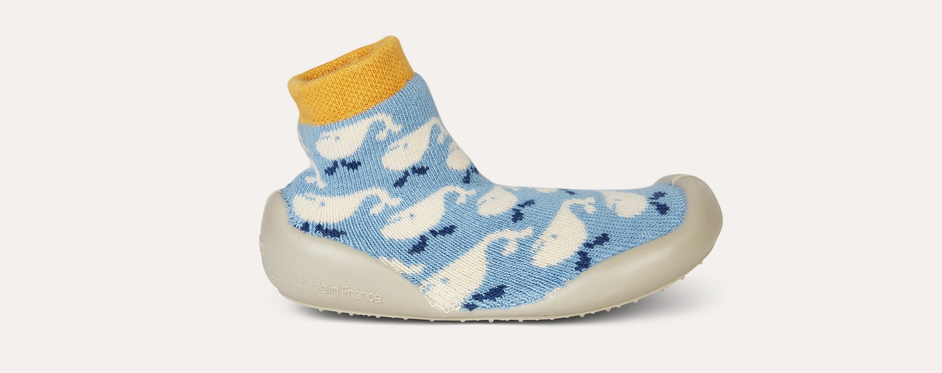 Blue Collegien Whale Slipper Socks