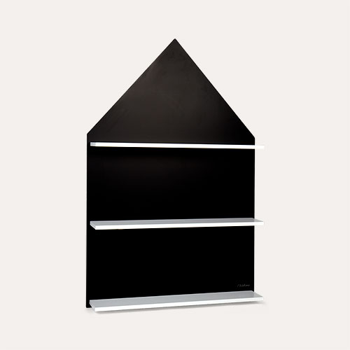 Black Childhome Chalkboard House And Shelf