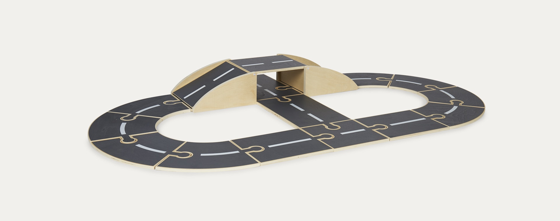 Grey Kid's Concept Wooden Track Aiden