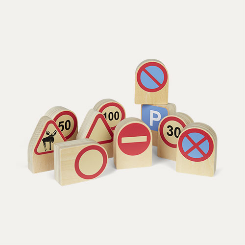 Red Kid's Concept Traffic signs 10 Piece