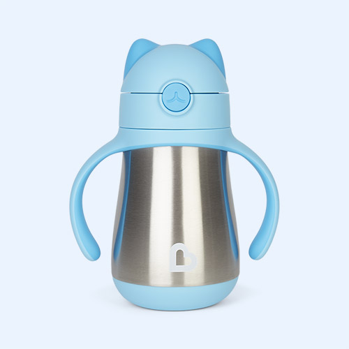 Sky Munchkin Cool Cat Stainless Steel Straw Cup