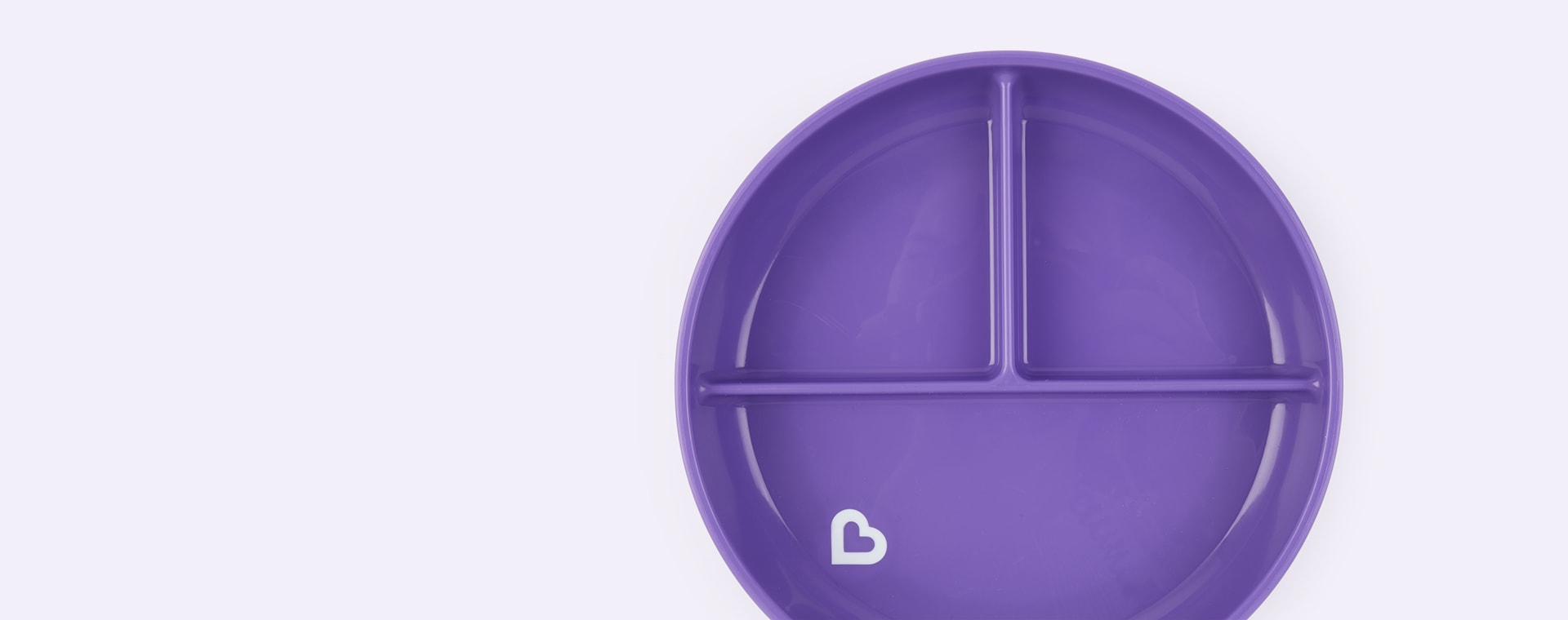 Purple Munchkin Stay Put Suction Plate