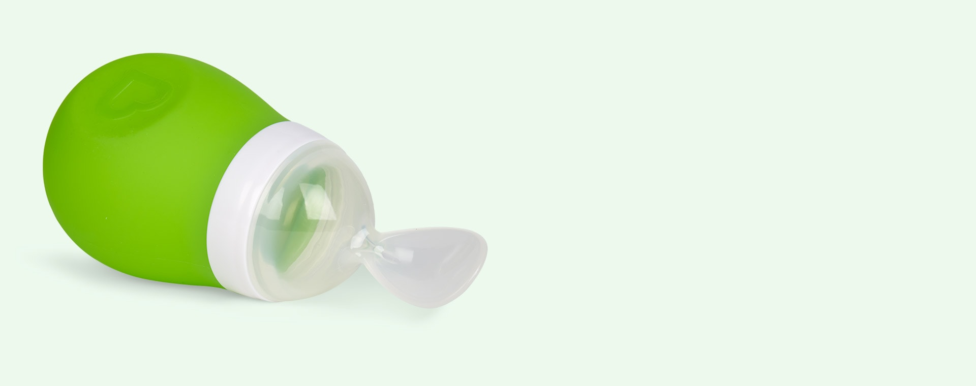 Green Munchkin Squeeze Spoon