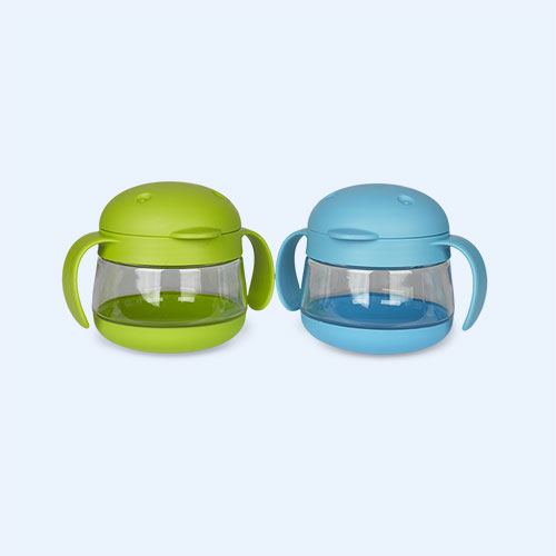 Green/Blue ubbi Tweat 2 Piece Snack Container