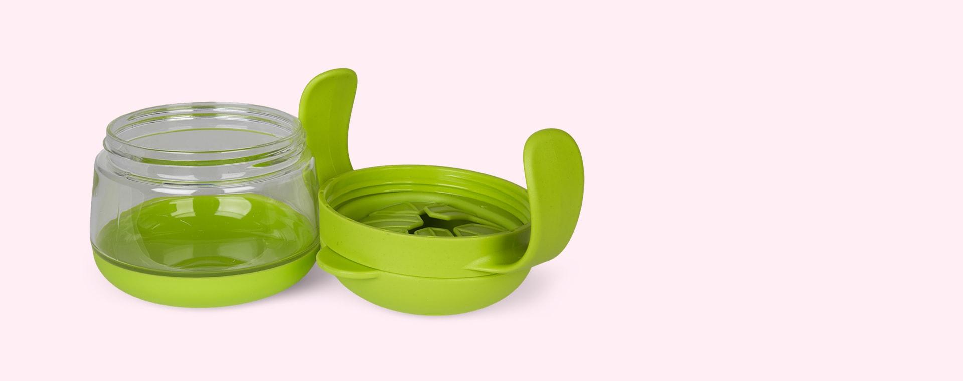 Green/Pink ubbi Tweat 2 Piece Snack Container