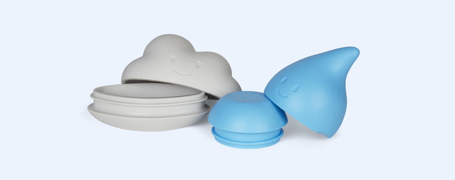 Blue ubbi Cloud and Droplet Bath Toys