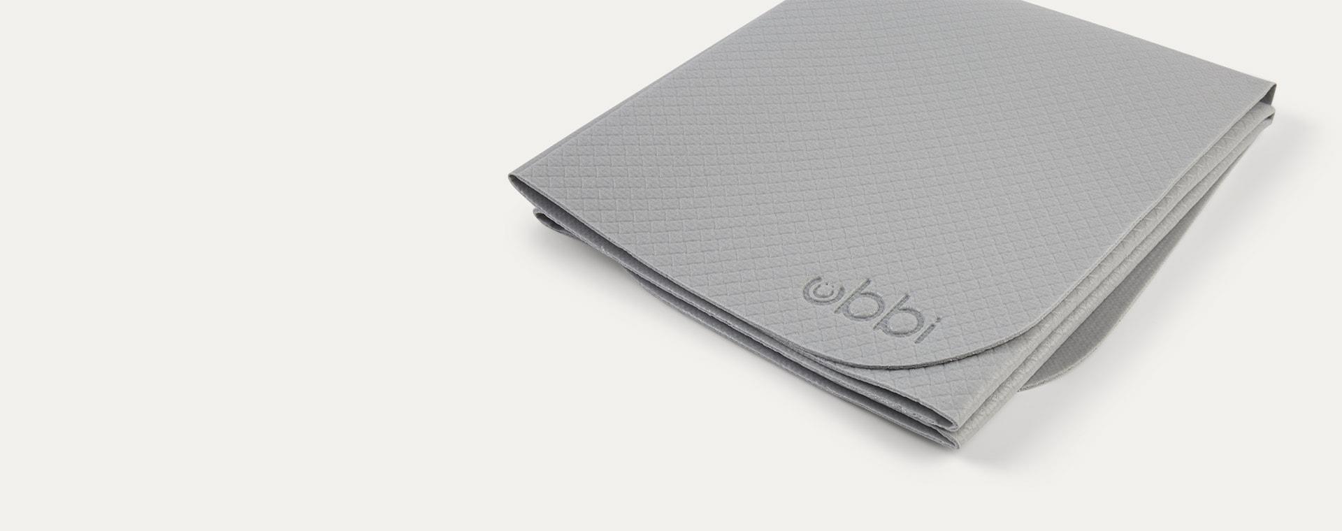 Grey ubbi On-the-Go Changing Bag Mat and Bag