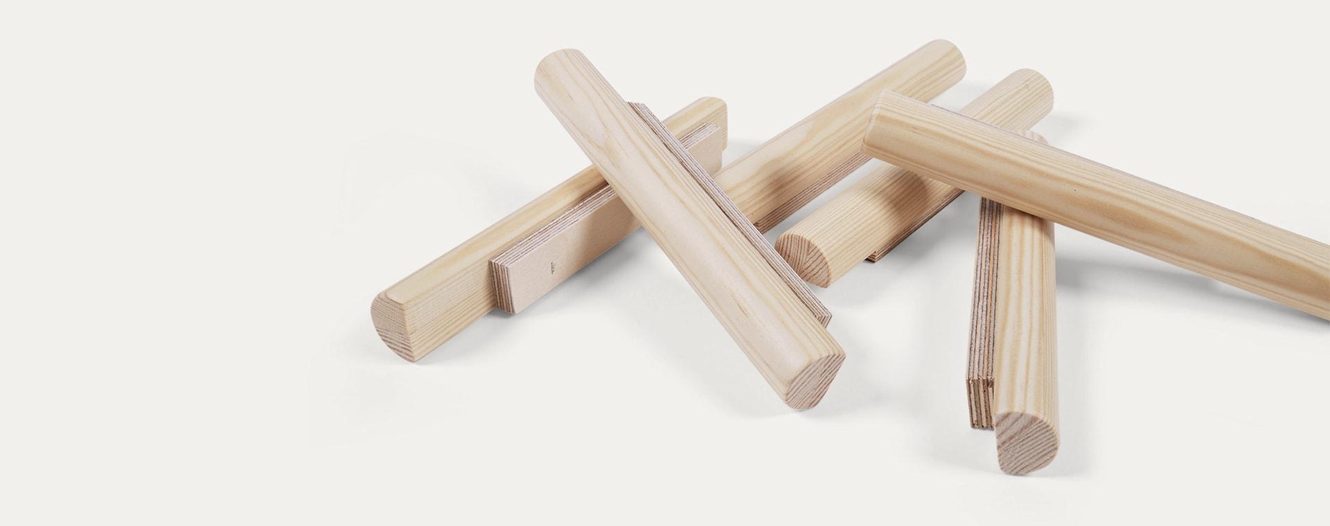 Natural Wood Tri Climb Miri Sticks
