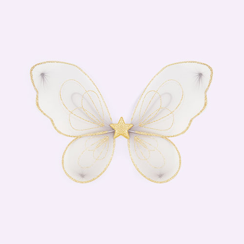 Gold Mimi & Lula Fairy Dust Sparkle Wings