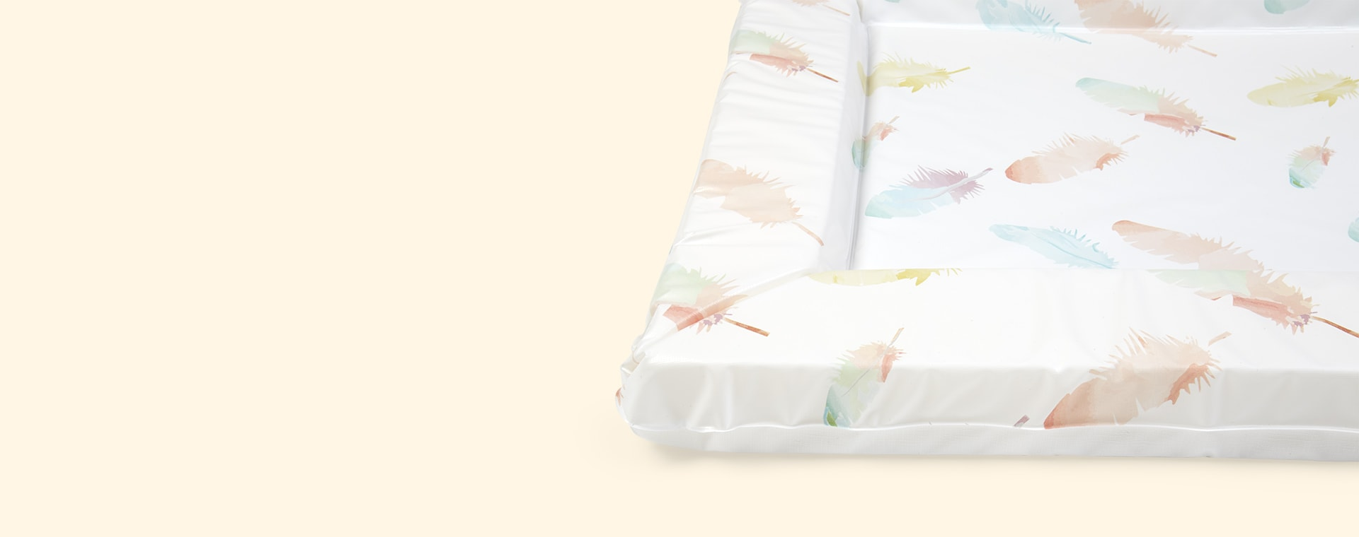White East Coast Nursery Feathers Changing Mat