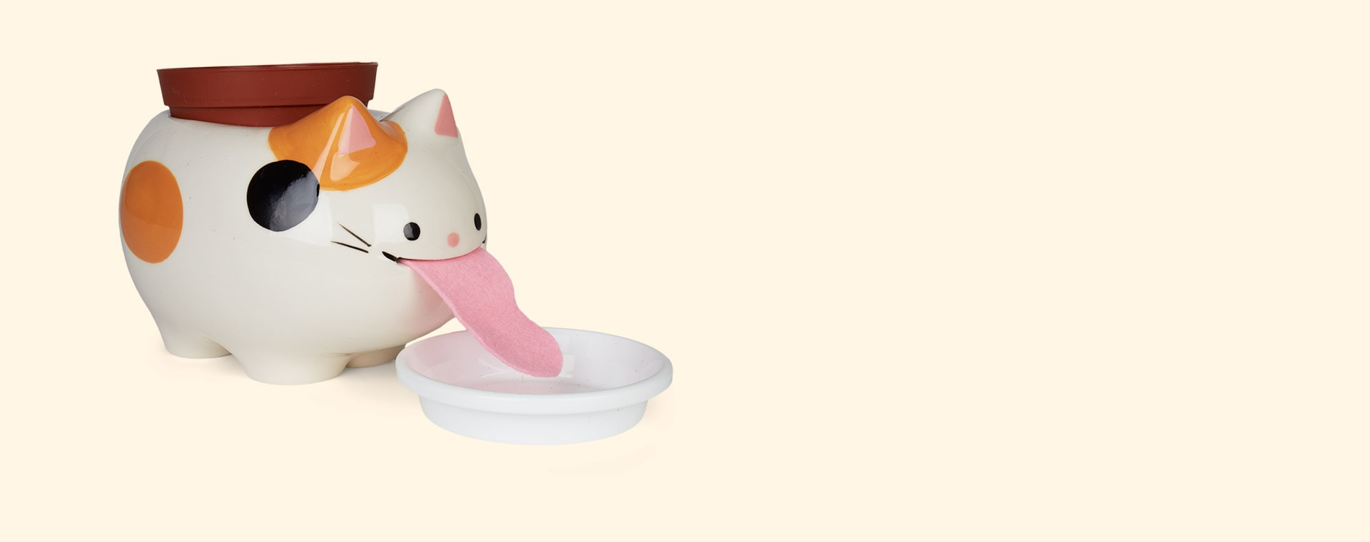 Cat Strawberry Noted Papa Peropon Drinking Animal Planter