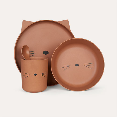 Cat Terracotta Liewood Bamboo Tableware