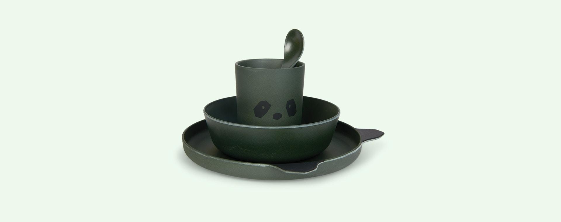 Panda Hunter Green Liewood Bamboo Tableware