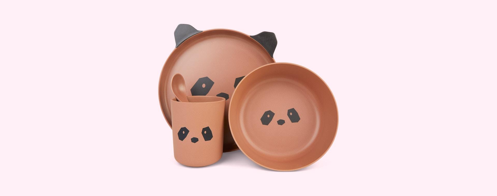 Panda Tuscany Rose Liewood Bamboo Tableware