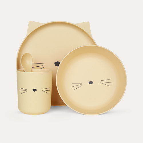 Cat Smoothie Yellow Liewood Bamboo Tableware
