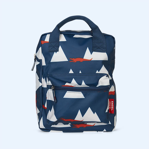 Navy Croc Engel Medium Backpack