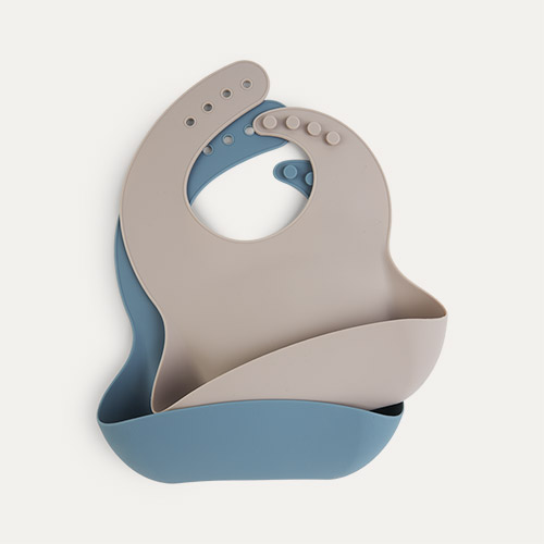 Ocean & Dove KIDLY Label Silicone Bib - 2 Pack