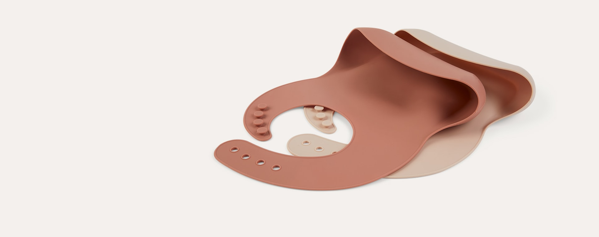 Cinnamon Mix KIDLY Label 2-Pack Silicone Bibs